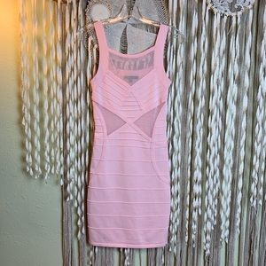 WOW Couture Pink Bodycon Dress Size Snall
